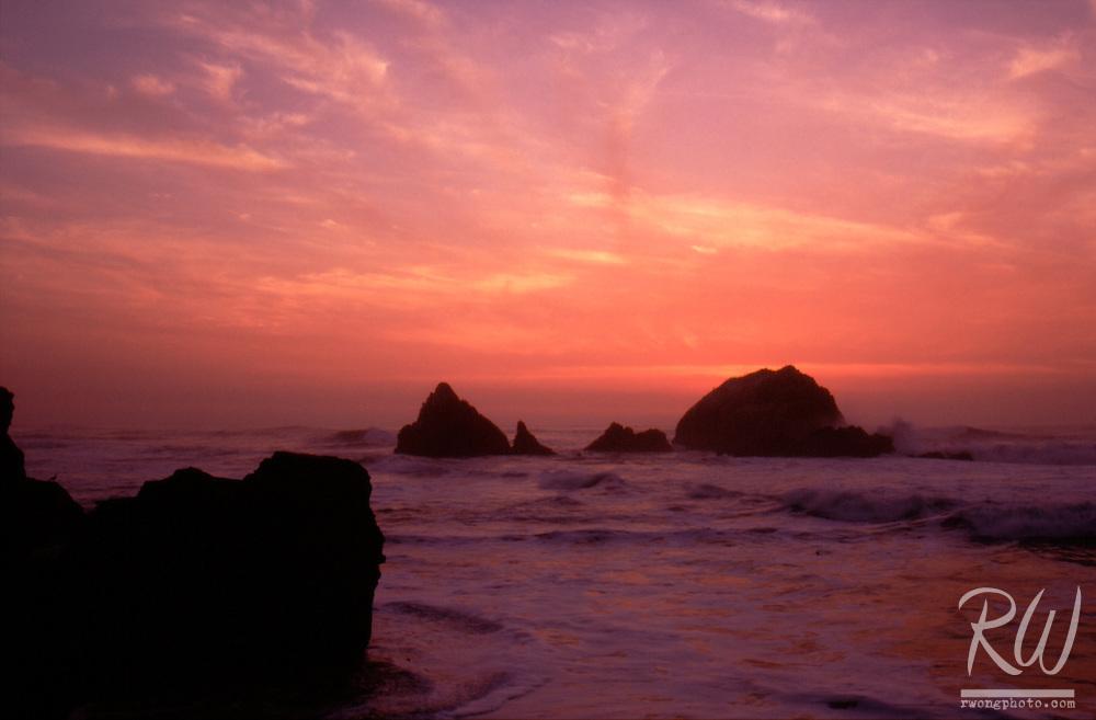 Seal Rocks at Twilight, San Francisco, California