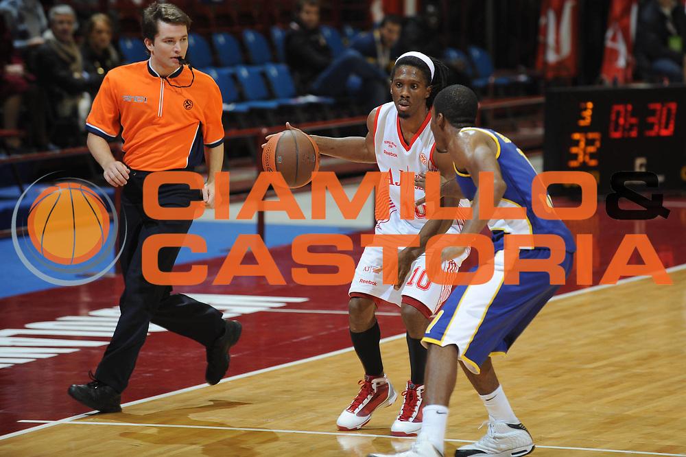 DESCRIZIONE : Milano Eurolega 2009-10 Armani Jeans Milano EWE Baskets Oldenburg<br /> GIOCATORE : Morris Finley<br /> SQUADRA : Armani Jeans Milano<br /> EVENTO : Eurolega 2009-2010<br /> GARA : Armani Jeans Milano EWE Baskets Oldenburg<br /> DATA : 09/12/2009<br /> CATEGORIA : Palleggio<br /> SPORT : Pallacanestro<br /> AUTORE : Agenzia Ciamillo-Castoria/G.Ciamillo<br /> Galleria : Eurolega 2009-2010<br /> Fotonotizia : Milano Eurolega 2009-10 Armani Jeans Milano EWE Baskets Oldenburg<br /> Predefinita :