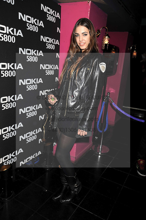 AMBER LE BON at the launch party of the Nokia 5800 phone held at PUNK 14 Soho Street, London W1 on 27th January 2009.