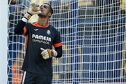 September 30, 2018 - Villarreal, Castellon, Spain - Sergio Asenjo of Villarreal CF drinks prior to the La Liga match between Villarreal CF and Real Valladolid at Estadio de la Ceramica on September 30, 2018 in Vila-real, Spain  (Credit Image: © David Aliaga/NurPhoto/ZUMA Press)