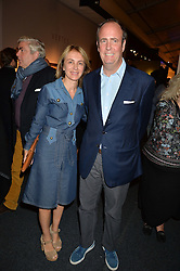 SAHAR HASHEMI and her husband at the PAD London 2015 VIP evening held in the PAD Pavilion, Berkeley Square, London on 12th October 2015.