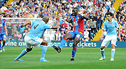 Yannick Bolasie with the chipped throughball during the Barclays Premier League match between Crystal Palace and Manchester City at Selhurst Park, London, England on 12 September 2015. Photo by Michael Hulf.