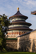 View of the Temple of Heaven from the north side during summer in Beijing, China