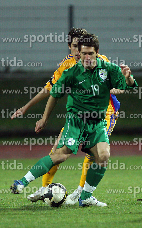 Luka Majcen (19)  of Slovenia during Friendly match between U-21 National teams of Slovenia and Romania, on February 11, 2009, in Nova Gorica, Slovenia. (Photo by Vid Ponikvar / Sportida)