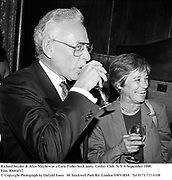 Richard Snyder & Alice Mayhew at a Carie Fisher book party. Grolier Club. N.Y. 6 September 1990. Film 90664f12<br />© Copyright Photograph by Dafydd Jones<br />66 Stockwell Park Rd. London SW9 0DA<br />Tel 0171 733 0108