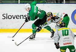 Mark Sever of SZ Olimpija during Ice Hockey match between HK SZ Olimpija and EHC Alge Elastic Lustenau in Semifinal of Alps Hockey League 2018/19, on April 1, 2019, in Arena Tivoli, Ljubljana, Slovenia. Photo by Vid Ponikvar / Sportida