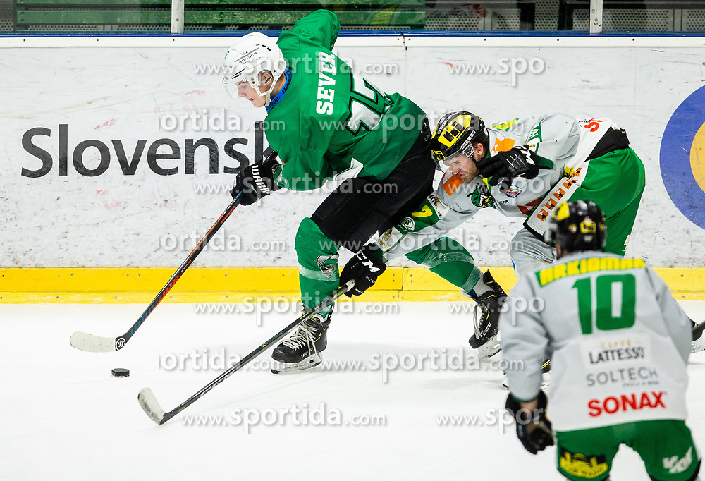 Mark Sever of SZ Olimpija during Ice Hockey match between HK SZ Olimpija and EHC Alge Elastic Lustenau in Semifinal of Alps Hockey League 2018/19, on April 1, 2019, in Arena Tivoli, Ljubljana, Slovenia. Photo by Vid Ponikvar / Sportida