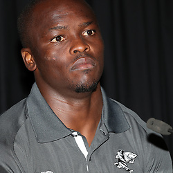 Lubabalo Tera Mtembu during The Cell C Sharks press conference and training session at Growthpoint Kings Park in Durban, South Africa. 16th March 2017(Photo by Steve Haag)<br /> <br /> images for social media must have consent from Steve Haag