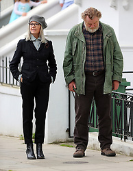 Actors Diane Keaton, Brendan Gleeson and Philip Davis filming scenes for the new film 'Hampstead' in Hampstead, London, UK. 22/05/2016<br />BYLINE MUST READ : JAMESY/GOTCHA IMAGES<br /><br />Copyright by © Gotcha Images Ltd. All rights reserved.<br />Usage of this image is conditional upon the acceptance <br />of Gotcha Images Ltd, terms and conditions available at<br />www.gotchaimages.com