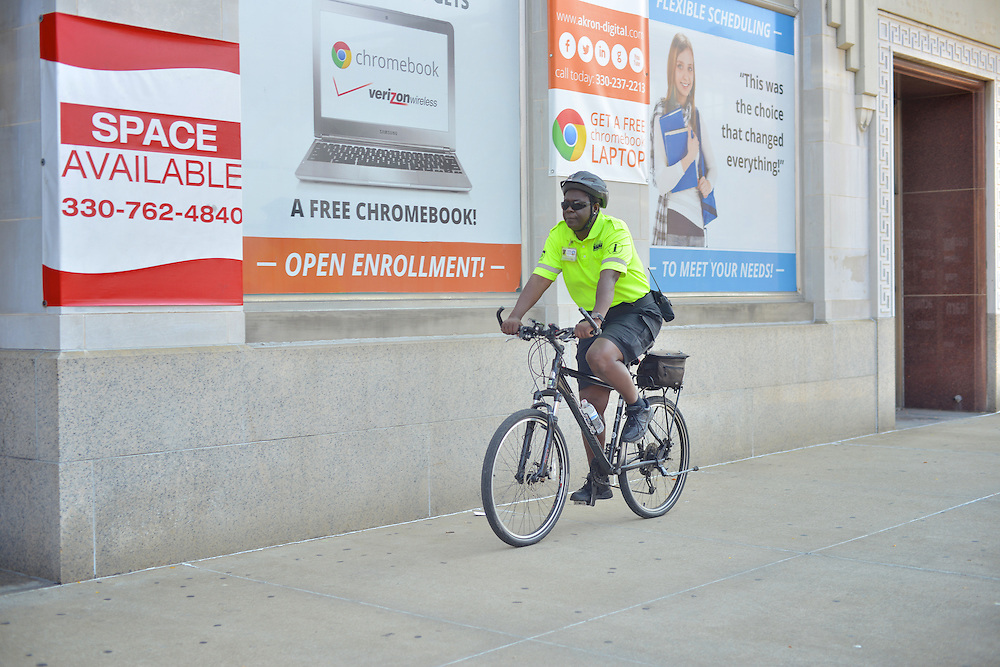 A Downtown Akron Partnership cleaning & safety ambassador