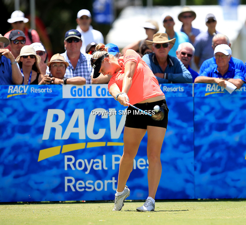 CHARLY HULL (ENG) - PHOTO : SMP IMAGES / ALPGA MEDIA - Action from the the 2015 RACV Australian Ladies Masters being held at Royal Pines Resort on Queenslands Gold Coast. This image is for Editorial Use only. No further image use or third party sales are allowed with out the written consent of the Mananger SMP IMages and or the CEO of the LPGA Tour. Photo: SMP Images / LPGA Media