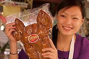 Face Off: Naha City Public Market. Pork, an Okinawa favourite. Pigface with chili.