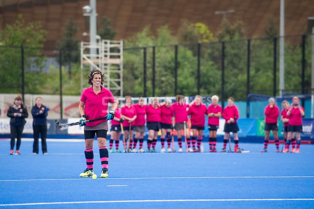Taunton Vale v Driffield - Investec Women's O45's Plate Final, Lee Valley Hockey & Tennis Centre, London, UK on 30 April 2017. Photo: Simon Parker