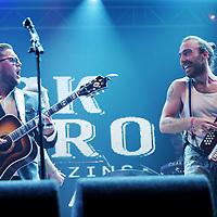 Nederland, Landgraaf, 12 juni 2015<br /> Het openings optreden van Jick Munro and the amazing Laserbeams tijdens het Pinkpop festival<br /> <br /> Foto: Jean-Pierre Jans