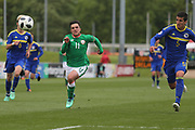Sean Brennan of Republic of Ireland (11) and Stefan Rankic of Bosnia and Herzegovina (5) during the UEFA European Under 17 Championship 2018 match between Bosnia and Republic of Ireland at Stadion Bilino Polje, Zenica, Bosnia and Herzegovina on 11 May 2018. Picture by Mick Haynes.