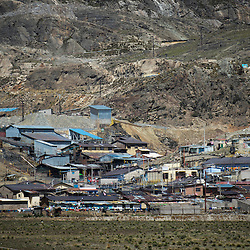 A partial view of the mining town of Morococha, located at 4,500 meters above sea level in the central Andes of Peru. Chinese mining company Chinalco hopes to relocate this town to build an open pit mine.