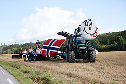 Farmers wait to greet the riders during Ladies Tour of Norway 2019 - Stage 2, a 131 km road race from Mysen to Askim, Norway on August 23, 2019. Photo by Sean Robinson/velofocus.com