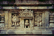 Carving at Hindu temple at Prambanan