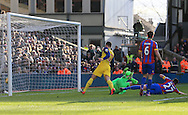 Arsenal's Olivier Giroud scoring his sides second goal<br /> <br /> Barclays Premier League - Crystal Palace  vs Arsenal  - Selhurst Park - England - 21st February 2015 - Picture David Klein/Sportimage
