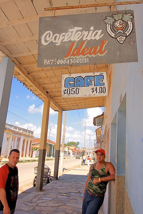 Cafe in Caibarien, Villa Clara, Cuba.