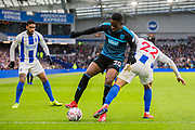Jonathan Leko (West Brom) & Martin Montoya (Brighton) during the FA Cup fourth round match between Brighton and Hove Albion and West Bromwich Albion at the American Express Community Stadium, Brighton and Hove, England on 26 January 2019.