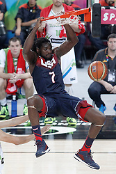 09.09.2014, City Arena, Barcelona, ESP, FIBA WM, Slowenien vs USA, im Bild USA's Kenneth Faried // during FIBA Basketball World Cup Spain 2014 match between Slovenia and USA at the City Arena in Barcelona, Spain on 2014/09/09. EXPA Pictures © 2014, PhotoCredit: EXPA/ Alterphotos/ Acero<br /> <br /> *****ATTENTION - OUT of ESP, SUI*****