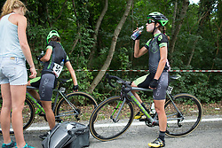 Krista Doebel-Hickok (USA) of Cylance Pro Cycling cools down after Stage 2 of the Giro Rosa - a 122.2 km road race, between Zoppola and Montereale Valcellina on July 1, 2017, in Pordenone, Italy. (Photo by Balint Hamvas/Velofocus.com)