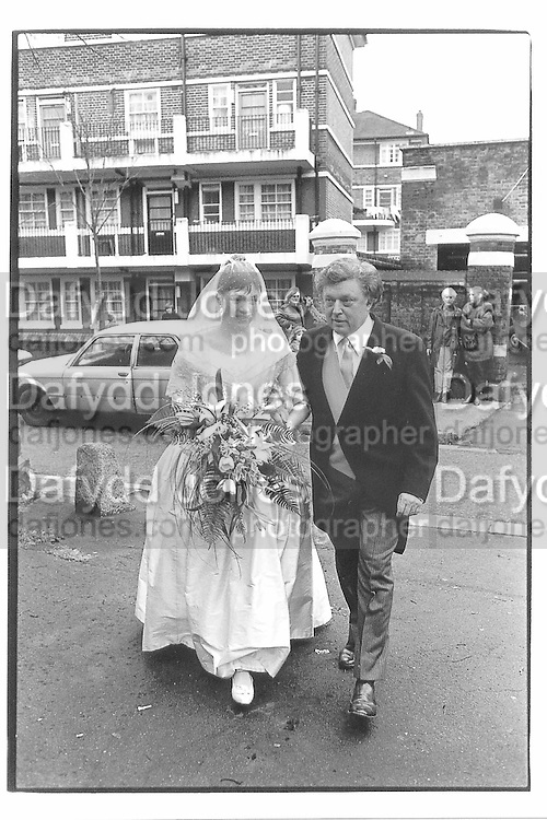 Wedding of Daisy to Marcus Wilford Rotheshithe, Richard Goodwin 30/01/82© Copyright Photograph by Dafydd Jones 66 Stockwell Park Rd. London SW9 0DA Tel 020 7733 0108 www.dafjones.com