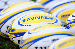 A general view of Aviva Premiership balls - Mandatory byline: Patrick Khachfe/JMP - 07966 386802 - 31/12/2016 - RUGBY UNION - The Recreation Ground - Bath, England - Bath Rugby v Exeter Chiefs - Aviva Premiership.