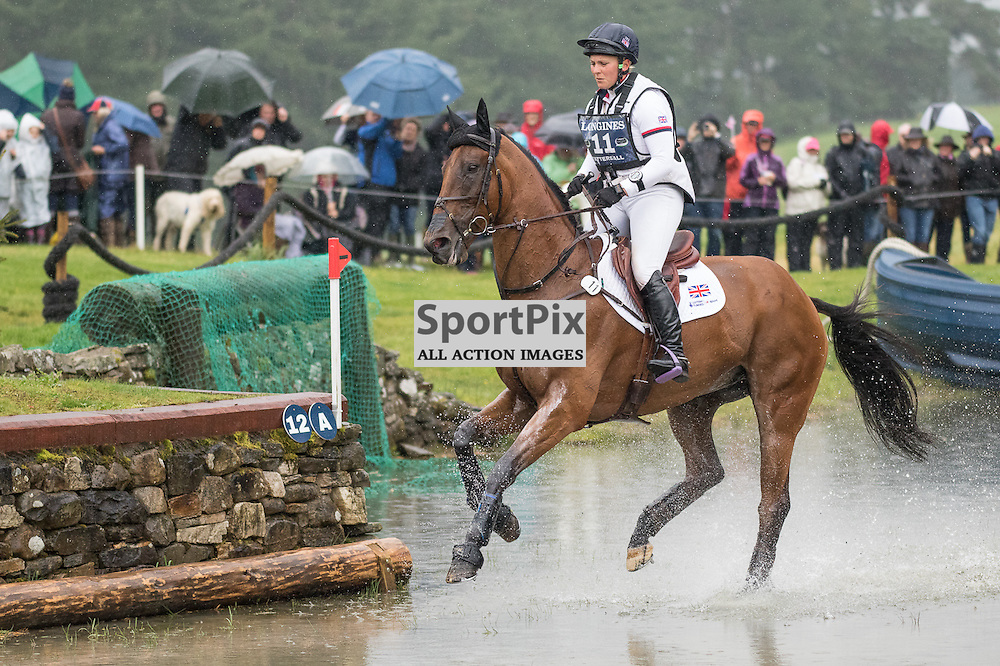 Early pace setter, with a clear round is Brittish rider Gemma Tattersall on Arctic Soul.  Longines FEI European Eventing Championship 2015, Blair Castle, 12th September 2015