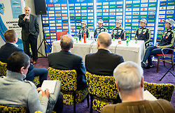 Ljubo Jasnic during press conference of Slovenian Ski jumping Women team before new season 2015/16, on December 1, 2015 in Cristal palace, BTC, Ljubljana, Slovenia. Photo by Vid Ponikvar / Sportida