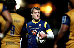 Jamie Shillcock of Worcester Warriors - Mandatory by-line: Robbie Stephenson/JMP - 04/11/2016 - RUGBY - Sixways Stadium - Worcester, England - Worcester Warriors v Bristol Rugby - Anglo Welsh Cup
