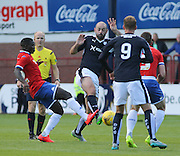 Dundee's Gary Harkins and Wigan's Francisco Junior challenge for the ball - Dundee v Wigan Athletic - pre season friendly at Dens Park<br /> <br />  - &copy; David Young - www.davidyoungphoto.co.uk - email: davidyoungphoto@gmail.com