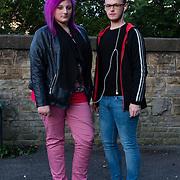 Two friends in Hall Ings Bradford.