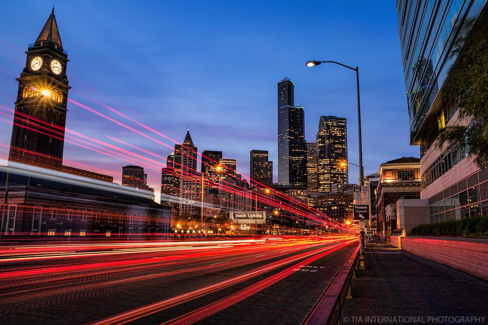 Fourth Avenue & King Street Train Station, Downtown Seattle