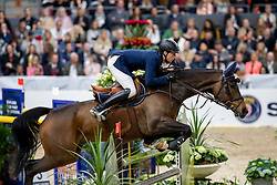 FUCHS Martin (SUI), The Sinner <br /> Göteborg - Gothenburg Horse Show 2019 <br /> Gothenburg Trophy presented by VOLVO<br /> Int. jumping competition with jump-off (1.55 m)<br /> Longines FEI Jumping World Cup™ Final and FEI Dressage World Cup™ Final<br /> 06. April 2019<br /> © www.sportfotos-lafrentz.de/Stefan Lafrentz
