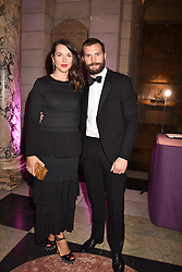 Jamie Dornan and his wife Amelia at The Sugarplum Dinner 2017 to benefit the type 1 diabetes charity JDRF held at the Victoria & Albert Museum, Cromwell Road, London England. 14 November 2017.<br /> Photo by Dominic O'Neill/SilverHub 0203 174 1069 sales@silverhubmedia.com