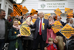 © Licensed to London News Pictures. 28/04/2017. London, UK. Vince Cable talks to supporters on Twickenham Green as he launches his election campaign in a bid to return to Parliament.  Photo credit: Peter Macdiarmid/LNP