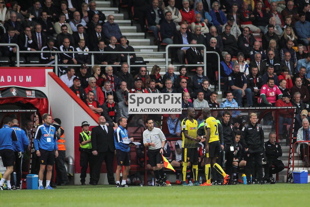 Victor Ibarbo is substituted on for Allan Nyom During Bournemouth vs Watford on Saturday 3rd of October 2015.
