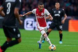 13-08-2019 NED: UEFA Champions League AFC Ajax - Paok Saloniki, Amsterdam<br />  Ajax won 3-2 and they will meet APOEL in the battle for a group stage spot / Hakim Ziyech #22 of Ajax