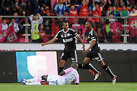 JOIE DE David NGOG  - 09.05.2015 -  Evian Thonon / Reims  - 36eme journee de Ligue 1<br />