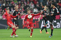 15.03.2014, Allianz Arena, Muenchen, GER, 1. FBL, FC Bayern Muenchen vs Bayer 04 Leverkusen, 25. Runde, im Bild l-r: im Zweikampf, Aktion, mit Toni Kroos #39 (FC Bayern Muenchen), Simon Rolfes #6 (Bayer 04 Leverkusen), Mario Goetze #19 (FC Bayern Muenchen), Emre Can #10 (Bayer 04 Leverkusen) // during the German Bundesliga 25th round match between FC Bayern Munich and Bayer 04 Leverkusen at the Allianz Arena in Muenchen, Germany on 2014/03/16. EXPA Pictures © 2014, PhotoCredit: EXPA/ Eibner-Pressefoto/ Kolbert<br /> <br /> *****ATTENTION - OUT of GER*****