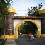 A mock Spanish fort forms the entrance gate to Centro Turistico. Centro Turistico is a 2KM stretch of lakefront with parks, walkways, picnic areas, and restaurants. But it has evidently lacked funding for upkeep since opening.