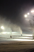 Snow making machines work on covering the slopes at Boyne Highlands in Harbor Springs in preparation for the upcoming 2008/09 ski season.