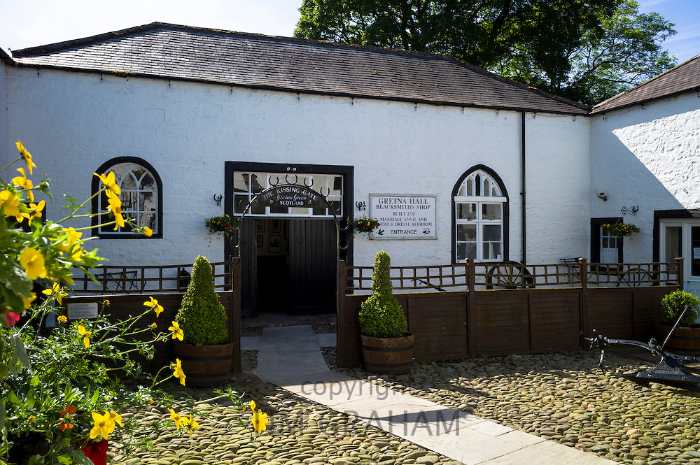 The famous Gretna Green Blacksmith's Shop used for eloping couples and weddings under Scottish licence on the border of Scotland