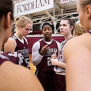 December 16, 2016 - New York, NY : Fordham University Women's Basketball seniors Danielle Burns, center, and Danielle Padovano, center right, practice with the team in Rose Hill Gymnasium on Friday.  CREDIT: Karsten Moran for The New York Times