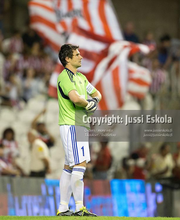 Ville Wallen. Athletic Bilbao - HJK. Eurooppa-liigan karsinta. Bilbao, Espanja 23.8.2012. Photo: Jussi Eskola