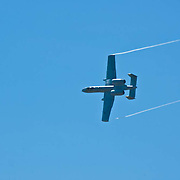 Warhog airplane at Camarillo Airshow 2010. California, USA.
