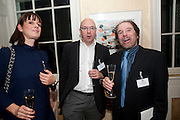 ALISON HULL; MARK ELLIOT; GEORGE PSARIAS, Streetsmart Reception at 11 Downing St. London. 1 November 2011. <br /> <br />  , -DO NOT ARCHIVE-© Copyright Photograph by Dafydd Jones. 248 Clapham Rd. London SW9 0PZ. Tel 0207 820 0771. www.dafjones.com.