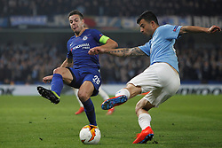 February 21, 2019 - London, Greater London, United Kingdom - Behrang Safari and Captain Cesar Azpilicueta during UEFA Europa League Round of 32 2nd Leg between Chelsea and Malmo FF at Stamford Bridge stadium, London, England on 21 Feb 2019. (Credit Image: © Action Foto Sport/NurPhoto via ZUMA Press)
